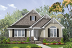 Arts and Crafts House Plan Front of Home - 072D-0058 | House Plans and More