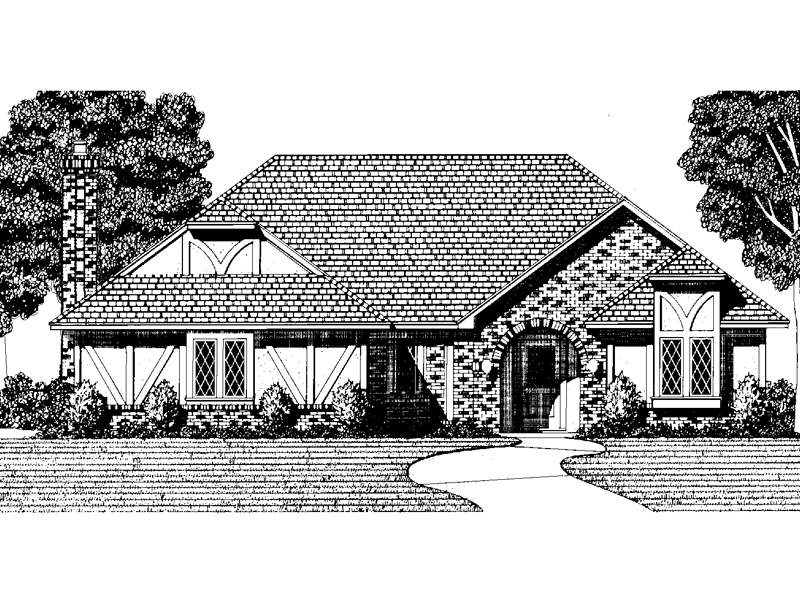 Tudor House Plan Front of Home - 072D-0072 | House Plans and More