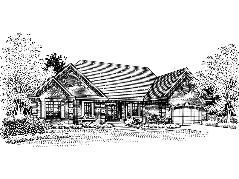 Traditional House Plan Front of Home - 072D-0085 | House Plans and More