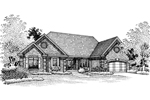 Ranch House Plan Front of Home - 072D-0085 | House Plans and More