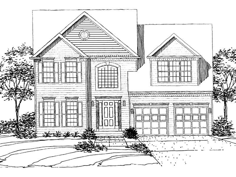 Southern House Plan Front of Home - 072D-0096 | House Plans and More