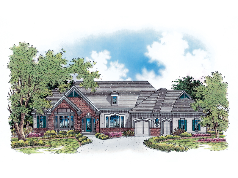 European Details Accent This Ranch For Added Curb Appeal