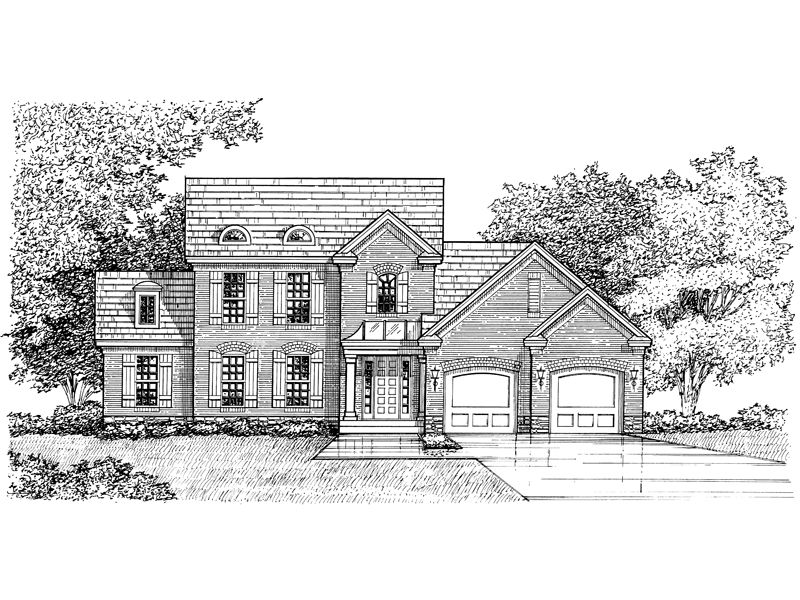Unique Dormers Add Curb Appeal To This Two-Story