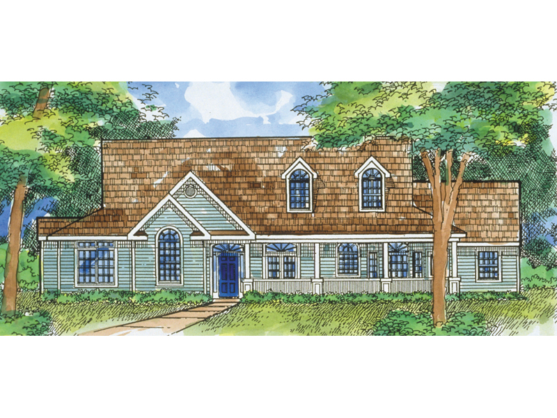 Two-Story Home Designed For Country Living