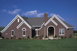 Ranch House Plan Front of Home - 072D-0103 | House Plans and More