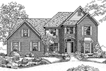 Traditional House Plan Front of Home - 072D-0111 | House Plans and More