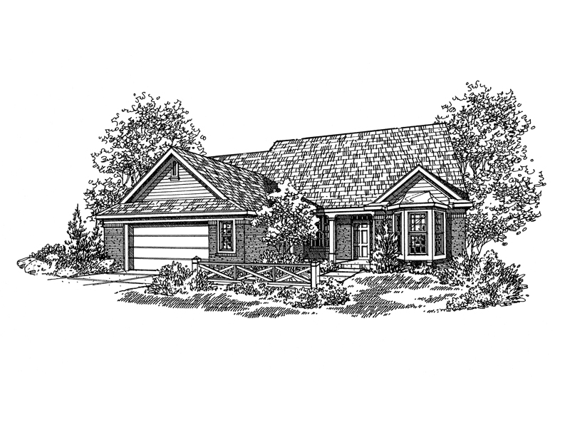 Ranch House Plan Front of Home - 072D-0112 | House Plans and More