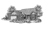 Country House Plan Front of Home - 072D-0112 | House Plans and More