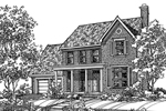 Colonial Floor Plan Front of Home - 072D-0113 | House Plans and More