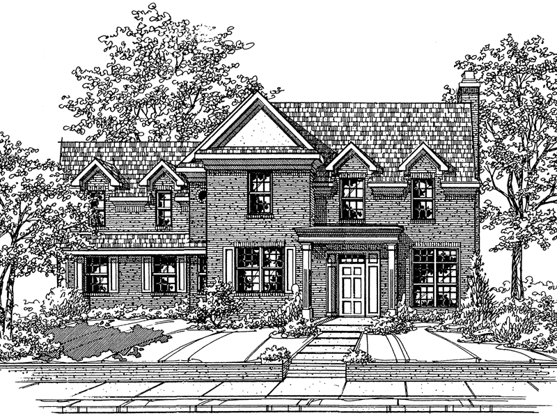 Traditional House Plan Front of Home - 072D-0114 | House Plans and More