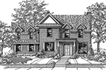 Southern House Plan Front of Home - 072D-0114 | House Plans and More