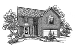 Traditional House Plan Front of Home - 072D-0115 | House Plans and More