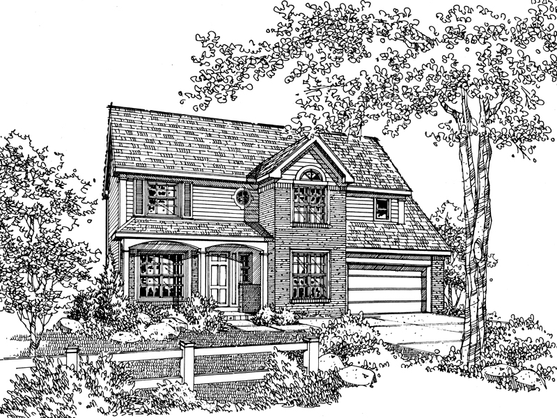 Country House Plan Front of Home - 072D-0116 | House Plans and More