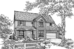 Traditional House Plan Front of Home - 072D-0116 | House Plans and More