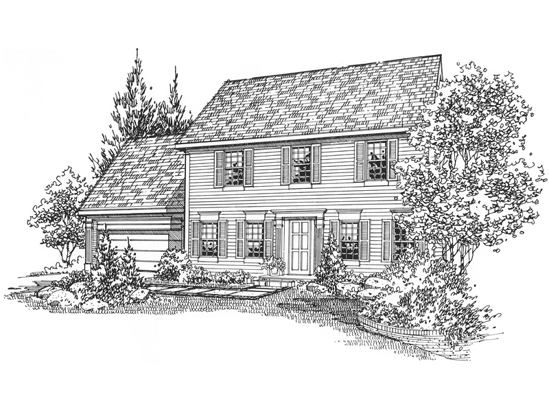 Colonial Floor Plan Front of Home - 072D-0117 | House Plans and More