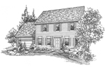 Early American House Plan Front of Home - 072D-0117 | House Plans and More