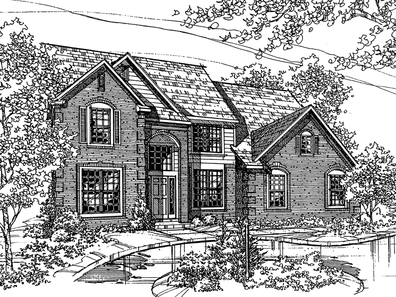 Modern House Plan Front of Home - 072D-0118 | House Plans and More