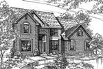 Traditional House Plan Front of Home - 072D-0118 | House Plans and More