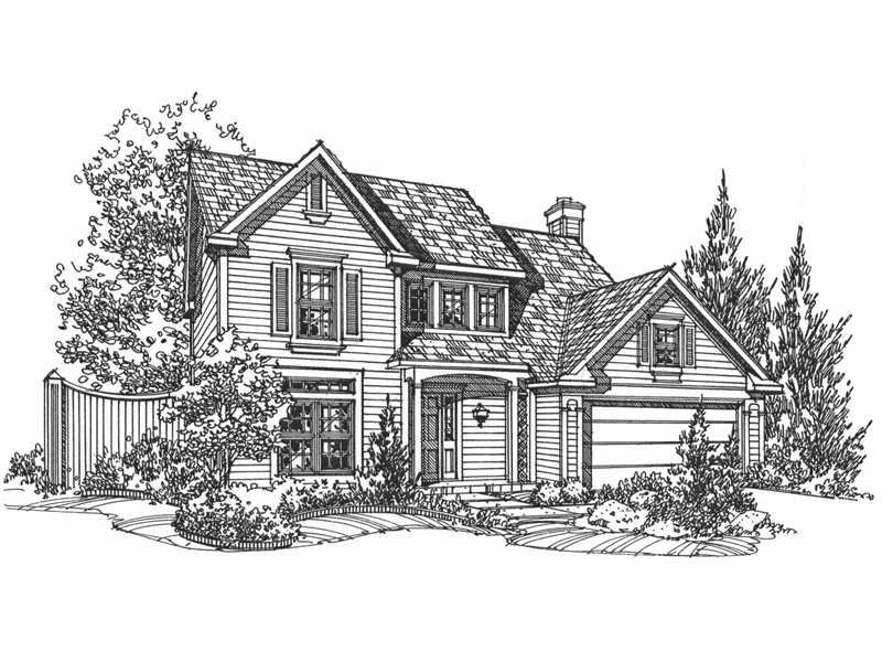 Traditional House Plan Front of Home - 072D-0119 | House Plans and More