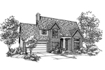 Traditional House Plan Front of Home - 072D-0120 | House Plans and More