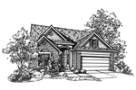 Modern House Plan Front of Home - 072D-0121 | House Plans and More