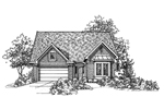 Traditional House Plan Front of Home - 072D-0122 | House Plans and More