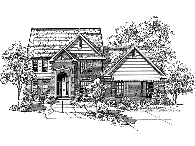 Traditional House Plan Front of Home - 072D-0123 | House Plans and More