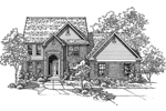 Colonial Floor Plan Front of Home - 072D-0123 | House Plans and More