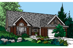 Country House Plan Front of Home - 072D-0125 | House Plans and More