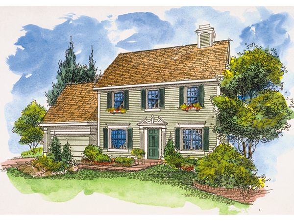 Dillon park early american home plan 072d 0127 house for Early american house plans