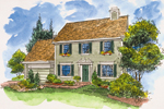 Southern House Plan Front of Home - 072D-0127 | House Plans and More