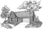 Traditional House Plan Front of Home - 072D-0128 | House Plans and More