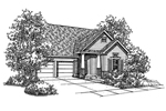 Traditional House Plan Front of Home - 072D-0129 | House Plans and More