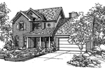 Traditional House Plan Front of Home - 072D-0130 | House Plans and More