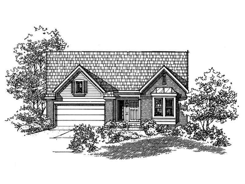 Traditional House Plan Front of Home - 072D-0131 | House Plans and More