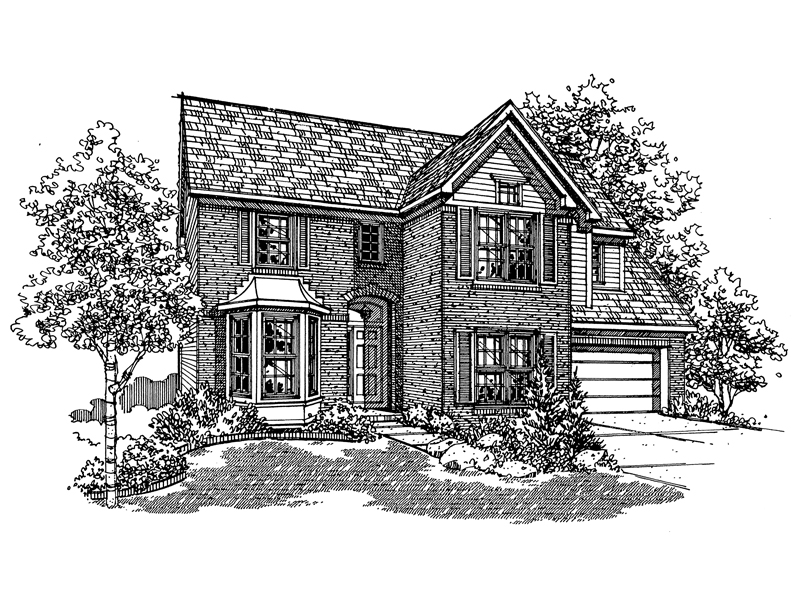Colonial Floor Plan Front of Home - 072D-0132 | House Plans and More