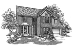 Colonial House Plan Front of Home - 072D-0132 | House Plans and More