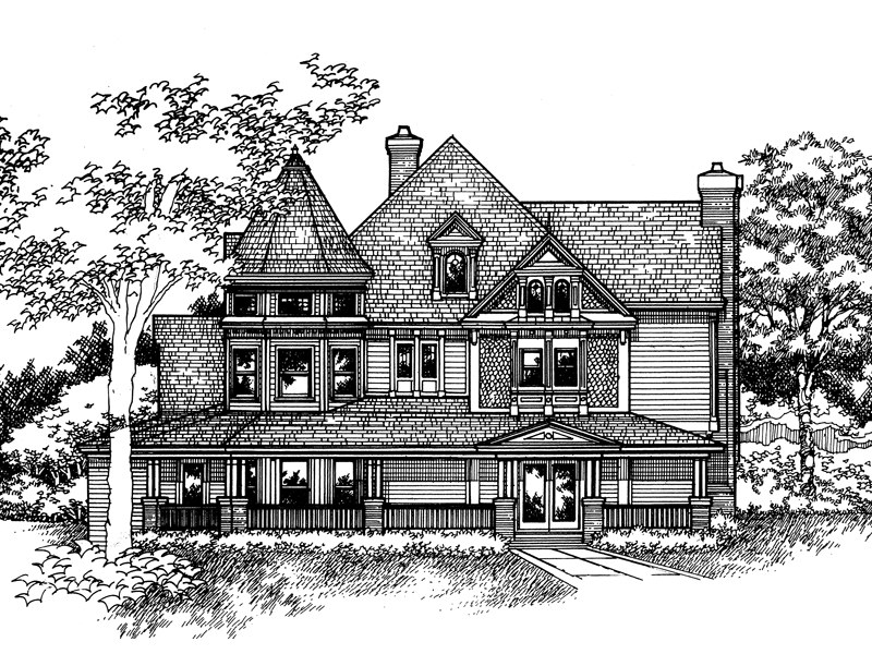 Country House Plan Front of Home - 072D-0133 | House Plans and More