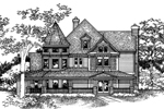 Traditional House Plan Front of Home - 072D-0133 | House Plans and More