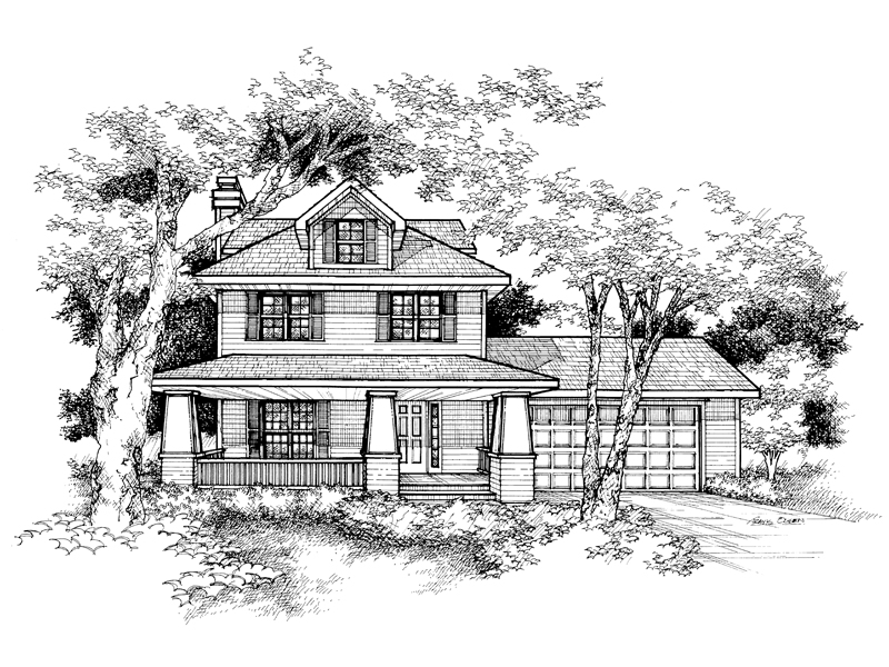 Country House Plan Front of Home - 072D-0134 | House Plans and More