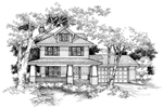 Traditional House Plan Front of Home - 072D-0134 | House Plans and More