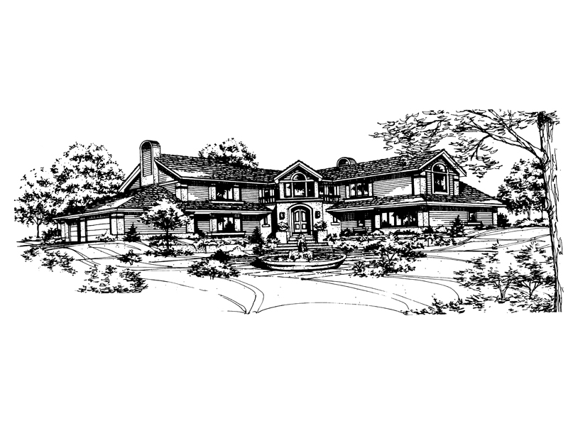Southern House Plan Front of Home - 072D-0137 | House Plans and More