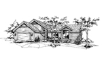 Ranch House Plan Front of Home - 072D-0138 | House Plans and More