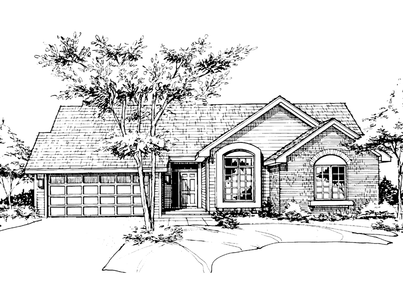 Traditional House Plan Front of Home - 072D-0139 | House Plans and More
