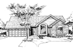 Ranch House Plan Front of Home - 072D-0139 | House Plans and More