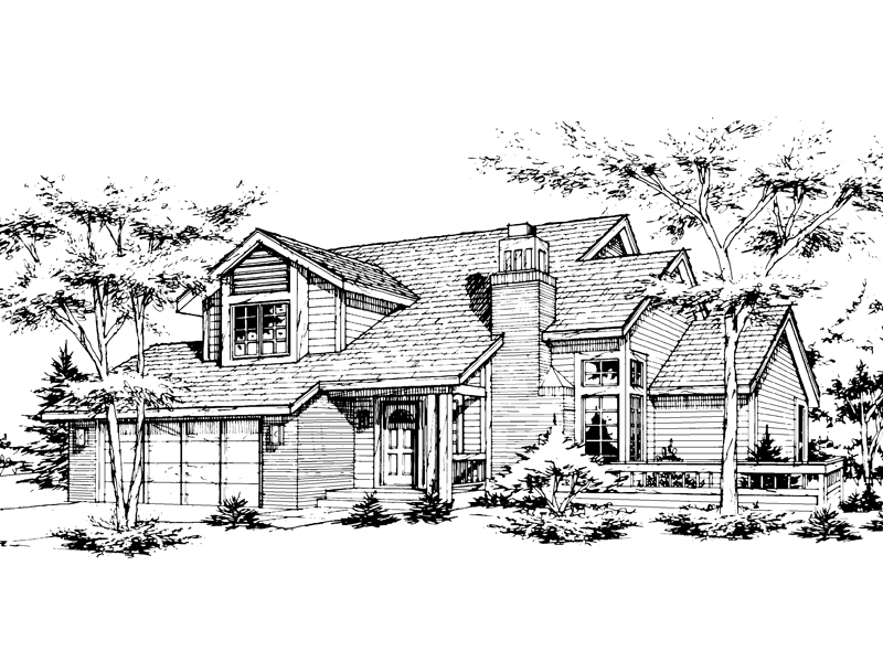 Country House Plan Front of Home - 072D-0140 | House Plans and More