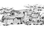 Bungalow House Plan Front of Home - 072D-0140 | House Plans and More
