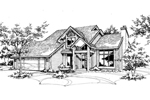 Contemporary House Plan Front of Home - 072D-0142 | House Plans and More