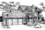 Contemporary House Plan Front of Home - 072D-0143 | House Plans and More