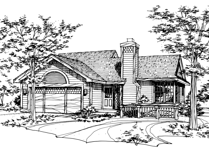 Traditional House Plan Front of Home - 072D-0147 | House Plans and More